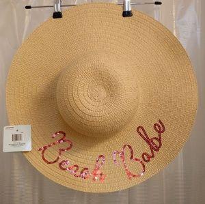 NWT BEACH BABE STRAW BEACH HAT